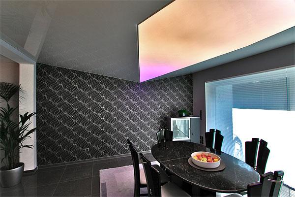 Wandbespannung Lichtdecke Wohnzimmer