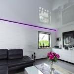 LED-Lichtleiste im Design-Wohnzimmer