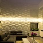 Spanndecken Wohnzimmer LED-Lichtleiste