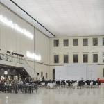 Spanndecke im Albertinum. Lichtdecke nach der Eröffnung (Foto Andreas Praefcke)