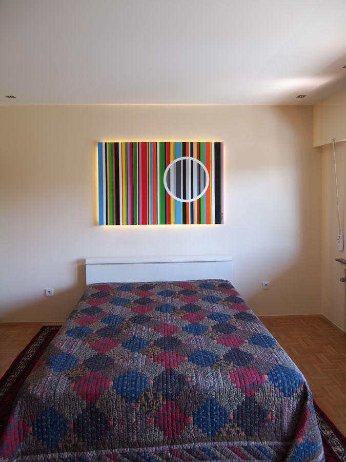Schlafzimmer mit Textilspanndecke Spanndecken Mettner
