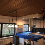 decke abh ngen in der k che wei gl nzend spanndecken mettner. Black Bedroom Furniture Sets. Home Design Ideas